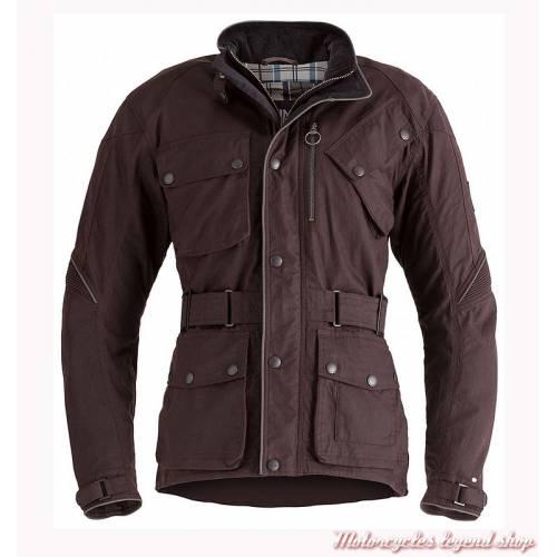 Blouson textile Oxblood Barbour Triumph femme, bordeaux, coton waxé, MLTA17103