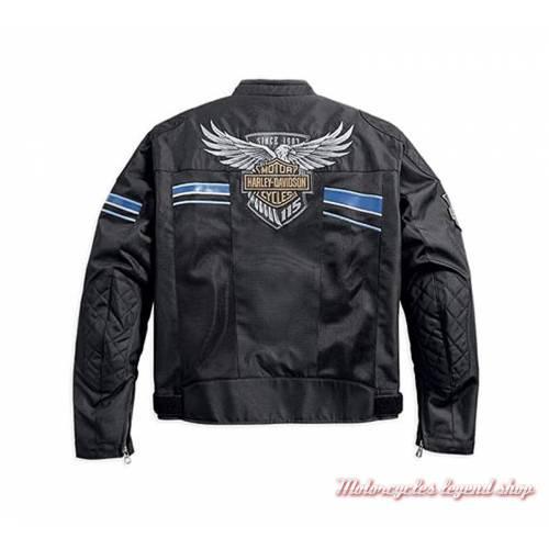 Blouson textile 115th Anniversary Harley-Davidson homme, polyester, noir, homologué CE, 98217-18EM