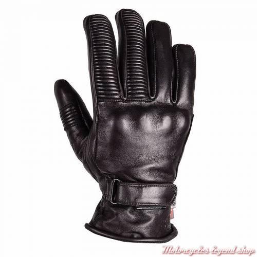 Gants cuir Stingray hiver Helstons femme, noir, coque mémoire de forme