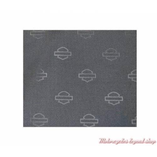 Tissu intérieur sac à main nylon femme Harley-Davidson, noir, zippé, médaillon chromé, WT8307S-BLK