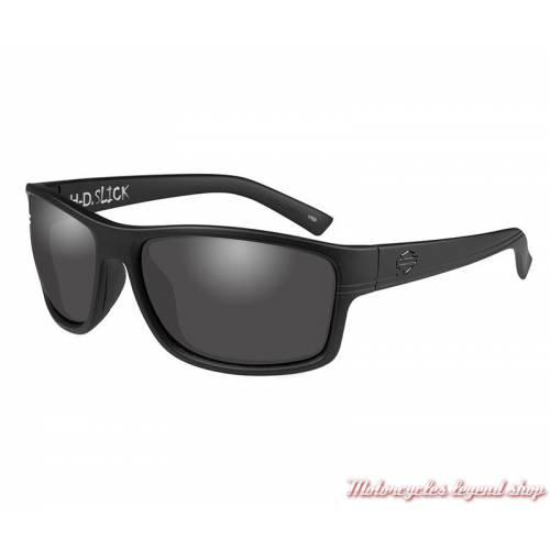 Lunettes solaire Slick Harley-Davidson, noir mat, verres gris, HASLK01