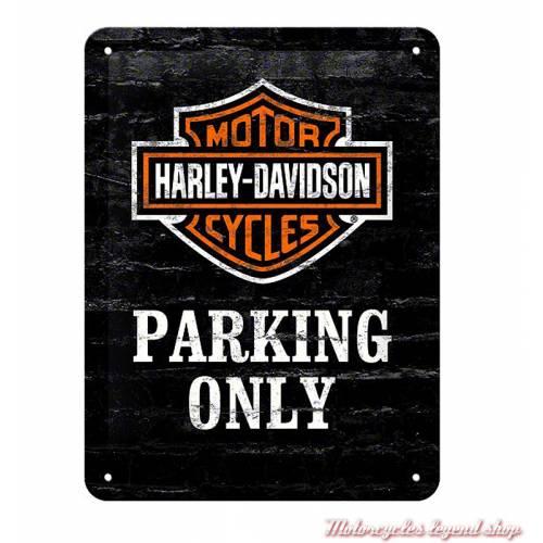Plaque métal Parking Only Harley-Davidson, 15 x 20 cm, 26117
