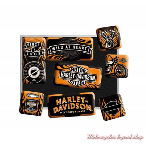 Petits magnets x 9 Wild at Heart Harley-Davidson, 83096