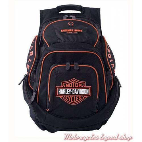 Sac à dos Bar & Shield black/orange, nylon, Harley-Davidson BP1900SO