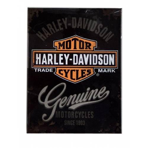 Magnet Harley-Davidson Genuine, Bar & Shield antique, 14225