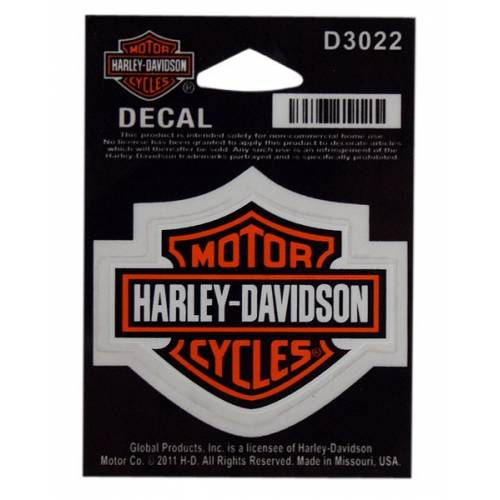 Sticker Bar & Shield orange, petite taille, Harley-Davidson D3022