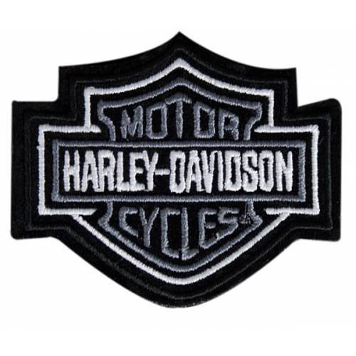 Patch Bar & Shield gris, brodé, taille small, Harley-Davidson EMB302541