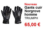 Gants cuir Norgrove homme Triumph