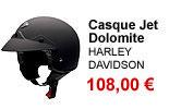 Casque jet Dolomite noir mat Harley Davidson