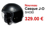 Casque jet J-O Shoei noir brillant