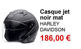 Casque jet noir mat mixte Harley-Davidson