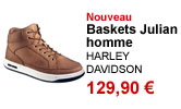 Baskets Julian marron homme Harley Davidson
