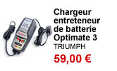 Chargeur entreteneur de batterie Optimate 3 Triumph