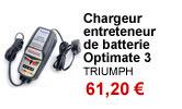 Chargeur entreteneur de batterie Optimate 3 Triumph