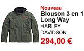 Blouson textile Long Way 3 en 1 homme Harley Davidson