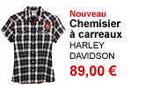 Chemisier  carreaux femme Harley-Davidson