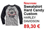 Sweatshirt homme Hard Candy Custom Black Label Harley Davidson