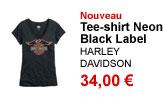 Tee-shirt Neon Logo femme Black Label Harley Davidson