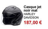 Casque jet noir mat mixte Harley-Davidson