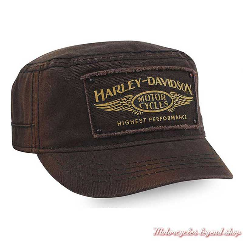 Casquette plate Highest Performance Harley-Davidson homme, marron, coton, PC33668