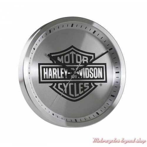Horloge murale Chrome Bar & Shield Harley-Davidson, metal brossé, HDX-99106