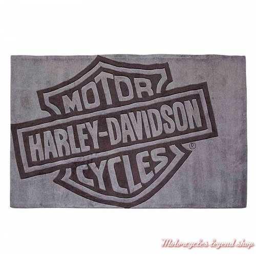 Tapis de sol Bar & Shield Harley-Davidson, gris, fait main, 150 x 90 cm, HDL-19503