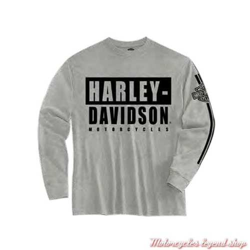 Tee-shirt garçon Harley-Davidson Motorcycles, gris, manches longues, coton