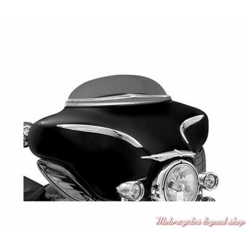 Baguette de pare brise Touring Kuryakyn chromé pour Harley-Davidson, visuel, K1379