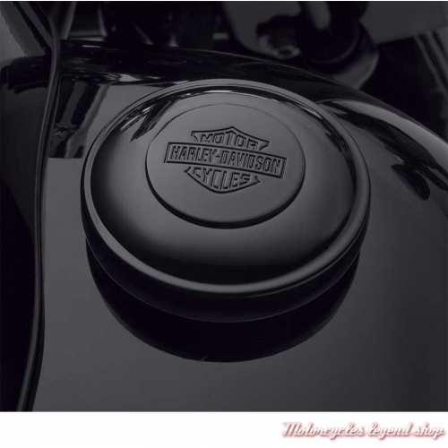 Bouchon de réservoir noir Harley-Davidson, compatible tous modèles 61100117A, visuel