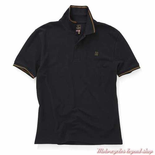 Polo Lustleigh noir homme Triumph, manches courtes, coton, MPOS20003