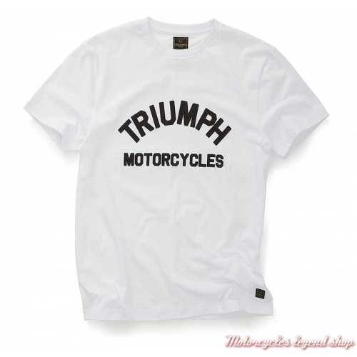 Tee-shirt Burnham blanc homme Triumph, manches courtes, coton, MTSS20008