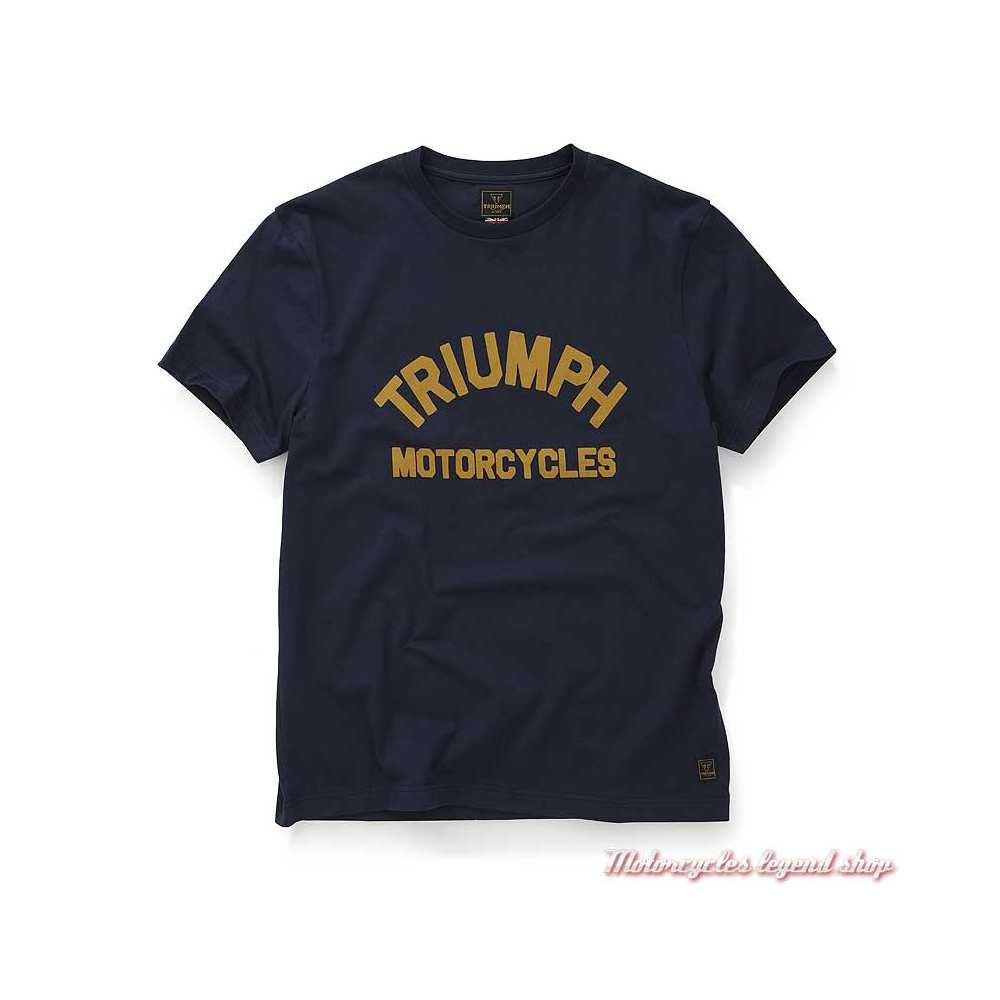 Tee-shirt Burnham black iris homme Triumph, manches courtes, coton, MTSS20009
