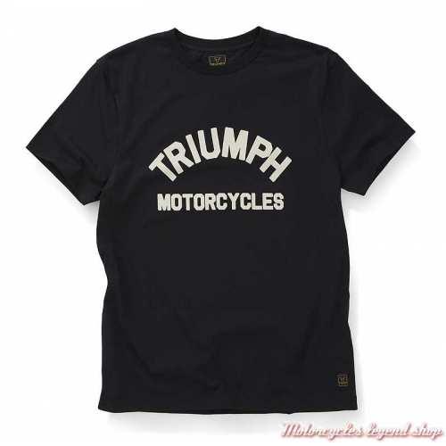 Tee-shirt Burnham noir homme Triumph, manches courtes, coton, MTSS20010
