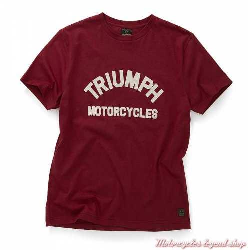 Tee-shirt Burnham Syrah homme Triumph, rouge, manches courtes, coton, MTSS20037