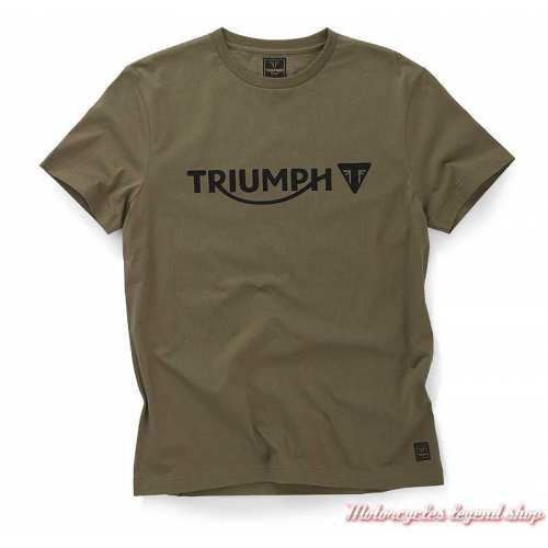 Tee-shirt Cartmel Khaki homme Triumph, manches courtes, coton, MTSS20040