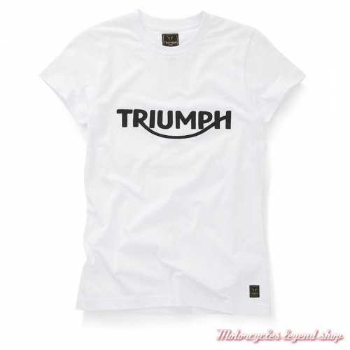 Tee-shirt Gwynedd blanc femme Triumph