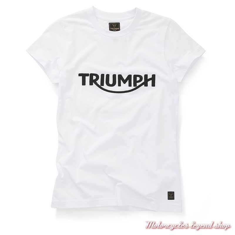 Tee-shirt Gwynedd blanc femme Triumph, manches courtes, coton, MTSS20050
