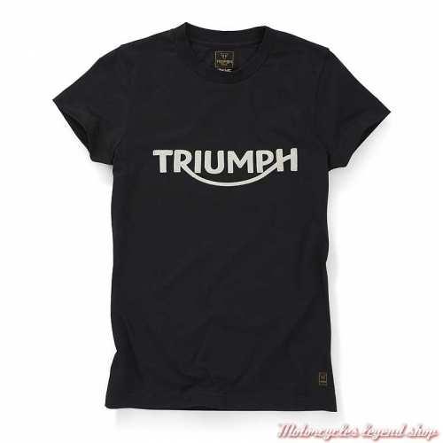 Tee-shirt Gwynedd noir femme Triumph