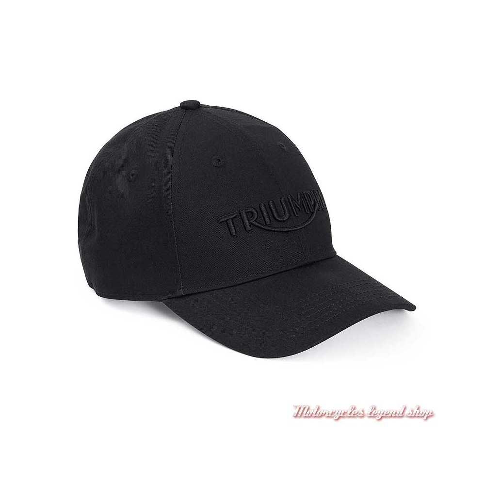 Casquette Mundsley Black Triumph, noir, logo noir, coton, réglable, MCAS20312