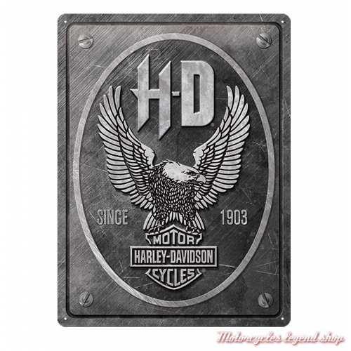 Plaque métal Eagle Harley-Davidson, 30 x 40 cm, 23267