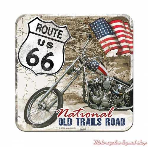 Dessous de verre Route 66, métal, Nostalgic Art 46111