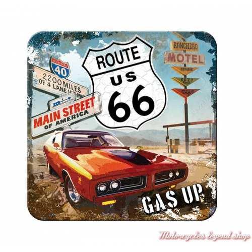 Dessous de verre Route 66 Motel, métal, Nostalgic Art 46109