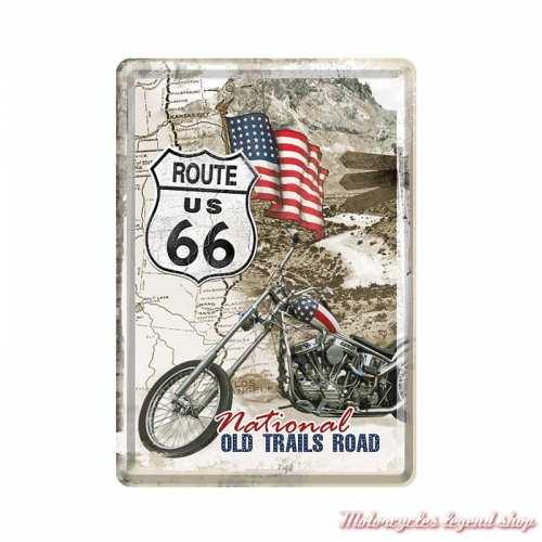 Carte postale métal Route 66