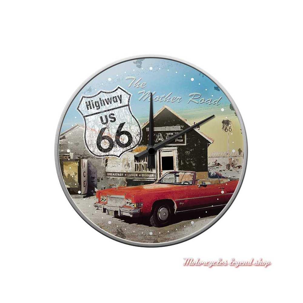 Horloge murale Route 66, Nostalgic Art 51033