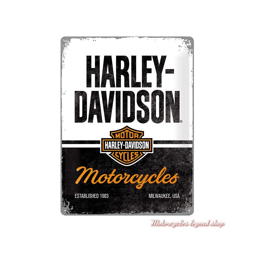 Plaque métal Harley-Davidson 30 X 40 cm, 23266