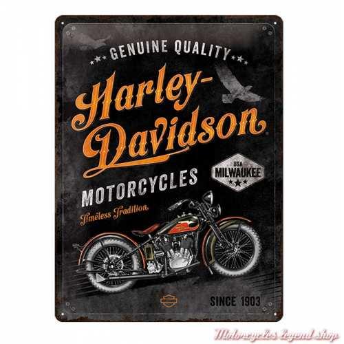 Plaque métal Timeless Harley-Davidson vintage, 23279