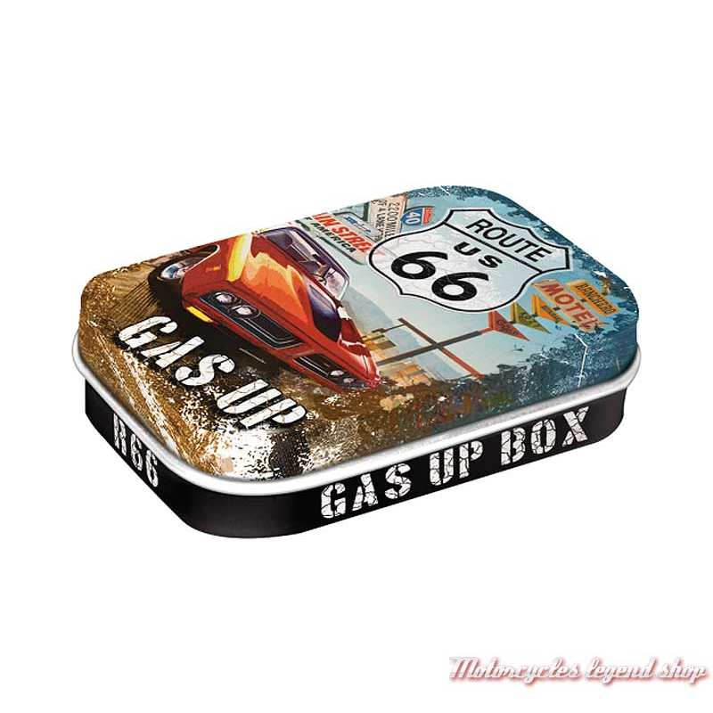 Boite de pastilles mentholées Gas Up, route 66, Nostalgic Art, 81220