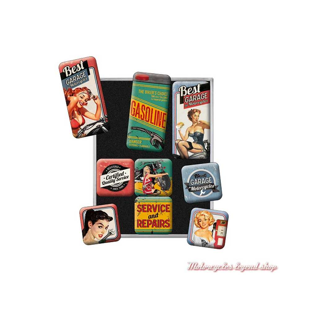 Magnets x 9 Best Garage, Pin'up, Nostalgic Art 83050