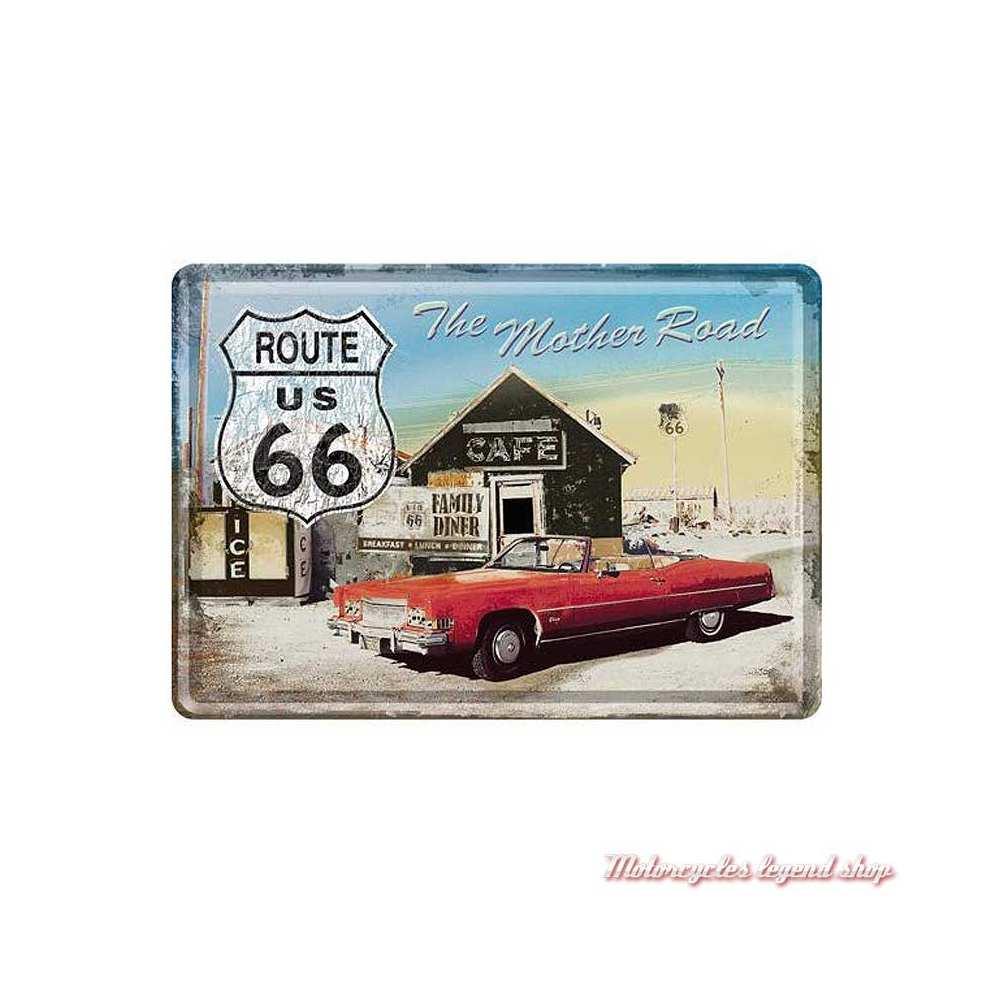 Carte postale métal Route 66, Nostalgic Art 16315