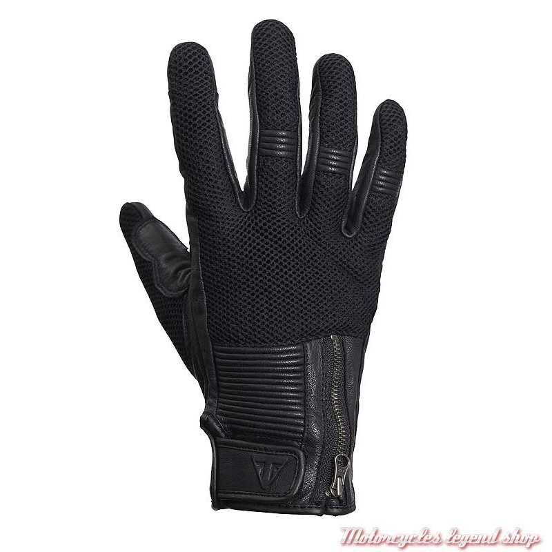 Gants mesh Raven Triumph, noir, maille et cuir, MGVS20115